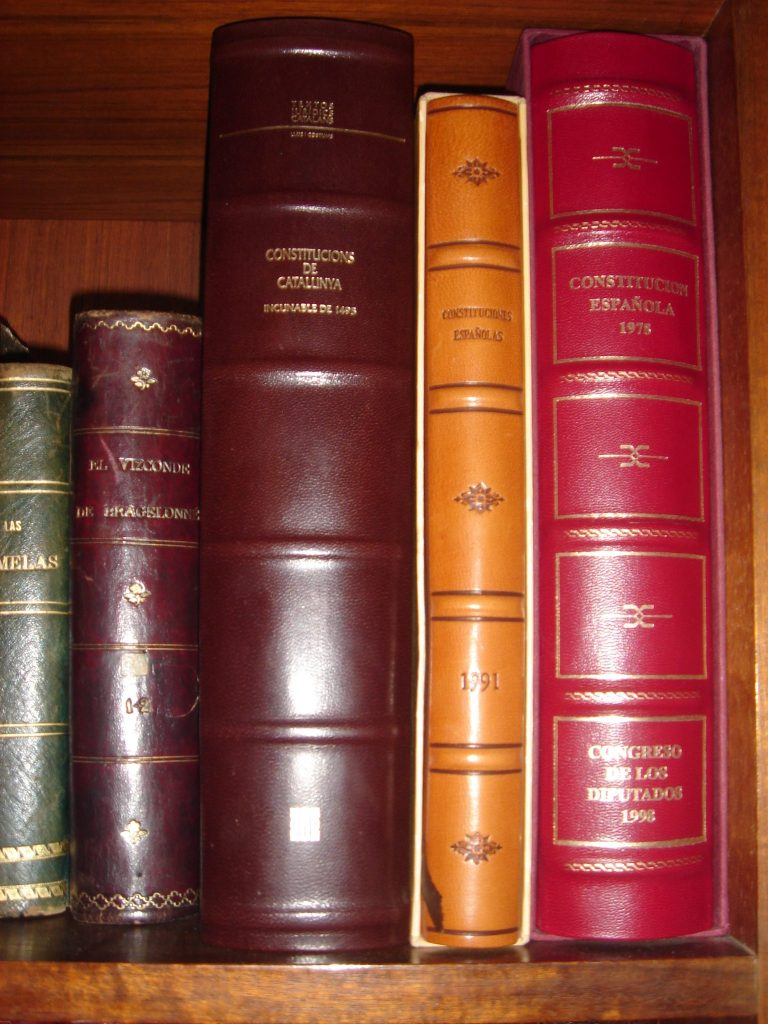 Imagen de libros en una estantería